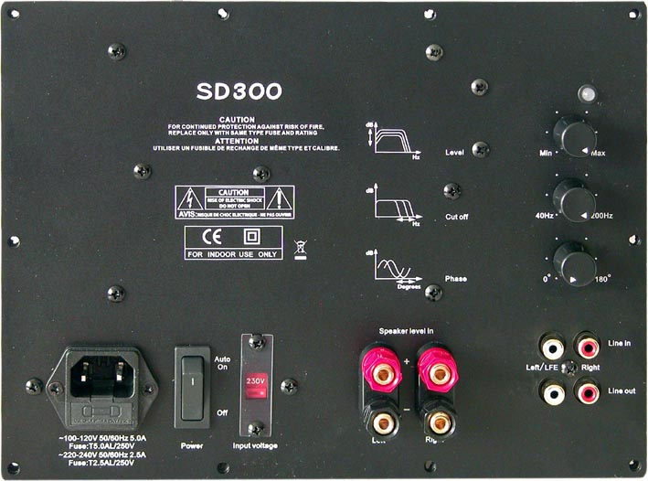 luxus audio sd300 front